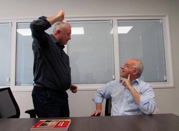 Sr. Jurandir Bertolini e Sr. Valmor Scapini
